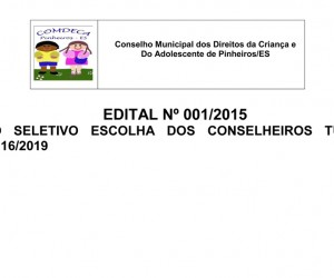 EDITAL CONSELHO TUTELAR-1