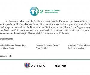 2 Feira de Saude Pinheiros - Convite
