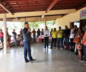 Antonio da Emater pontuou as obras e serviços realizados no bairro que foram frutos de reuniões com moradores e lideranças.
